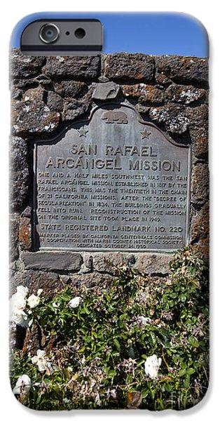 Mission San Rafael iPhone Cases - CA-220 San Rafael Arcangel Mission iPhone Case by Jason O Watson