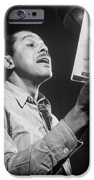 1940s Portraits iPhone Cases - Cab Calloway 1947 iPhone Case by Mountain Dreams