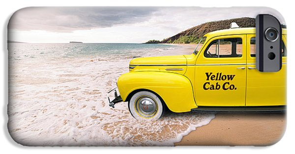 Daydream iPhone Cases - Cab Fare to Maui iPhone Case by Edward Fielding