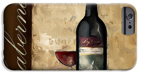 Vineyard Art iPhone Cases - Cabernet III iPhone Case by Lourry Legarde