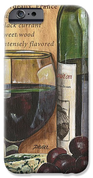 Wine Bottles Paintings iPhone Cases - Cabernet Sauvignon iPhone Case by Debbie DeWitt