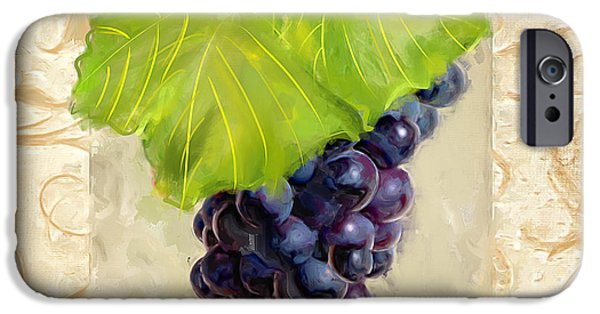 Grape Vineyard iPhone Cases - Cabernet Sauvignon II iPhone Case by Lourry Legarde