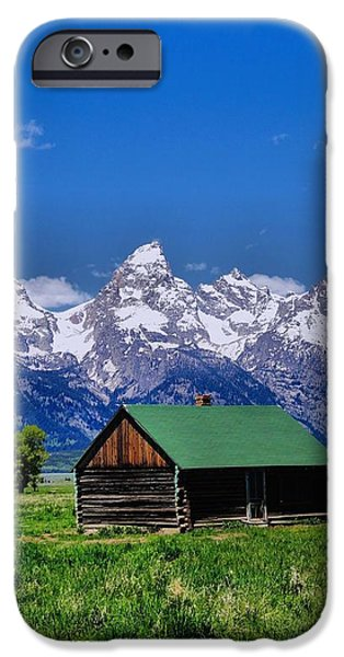 Log Cabin Photographs iPhone Cases - Cabin in the Mountains iPhone Case by Dan Sproul
