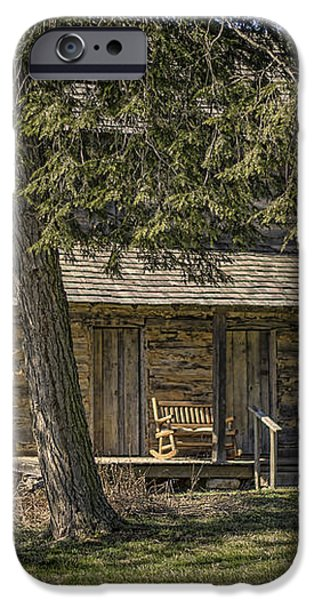 Cabin in the Wood iPhone Case by Heather Applegate