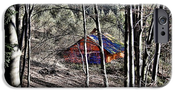 Cabin Window iPhone Cases - Cabin in the Woods iPhone Case by Mariola Bitner