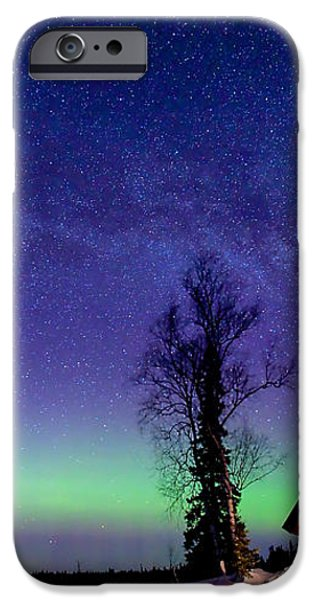 Cabin's Glow iPhone Case by Ed Boudreau