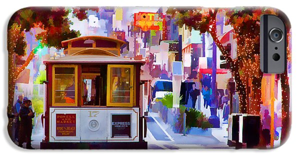 Union Square iPhone Cases - Cable Car at the Powell Street Turnaround iPhone Case by Bill Gallagher