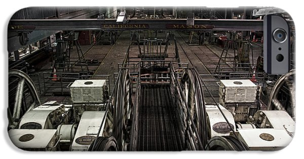 Mechanism iPhone Cases - Cable car barn in San Francisco iPhone Case by RicardMN Photography