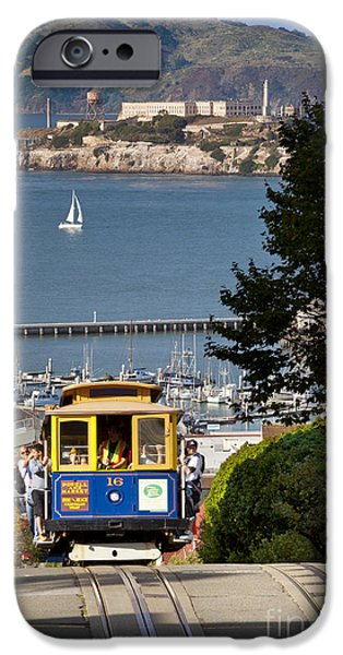 Cable iPhone Cases - Cable Car in San Francisco iPhone Case by Brian Jannsen