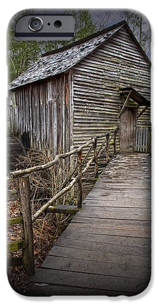 Grist Mill iPhone Cases - Cable Gristmill in Cades Cove iPhone Case by Randall Nyhof
