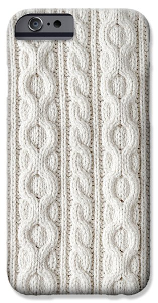 Cable iPhone Cases - Cable knit iPhone Case by Elena Elisseeva