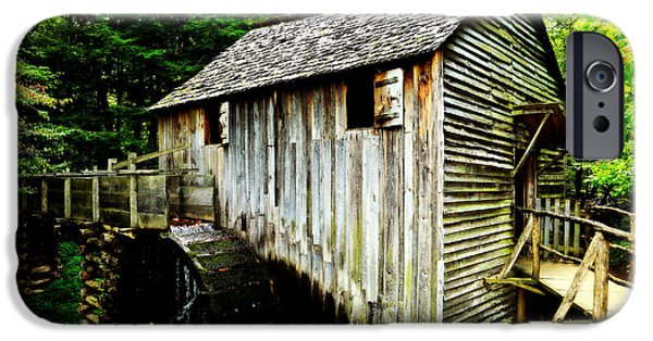 Grist Mill iPhone Cases - Cable Mill - Cades Cove iPhone Case by Stephen Stookey