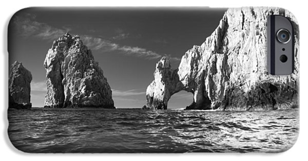 Best Sellers -  - Sea iPhone Cases - Cabo in Black and White iPhone Case by Sebastian Musial