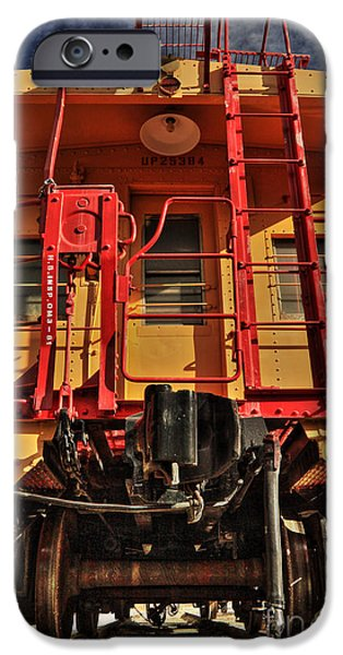 Caboose Photographs iPhone Cases - Caboose iPhone Case by James Eddy