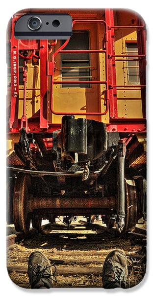 Caboose Photographs iPhone Cases - Caboose On The Loose iPhone Case by James Eddy