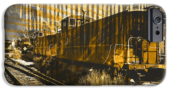 Caboose Photographs iPhone Cases - Caboose iPhone Case by Robert Ball