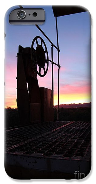 Caboose Photographs iPhone Cases - Caboose Waiting til dawn iPhone Case by Diane  Greco-Lesser