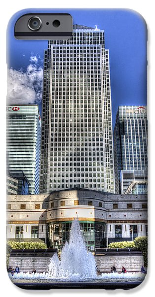 Cabot iPhone Cases - Cabot Square London iPhone Case by David Pyatt