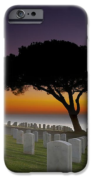 Cabrillo National Monument Cemetery iPhone Case by Larry Marshall