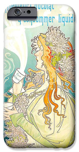 Cacao Van Houten iPhone Case by Henri Pivat Livemont