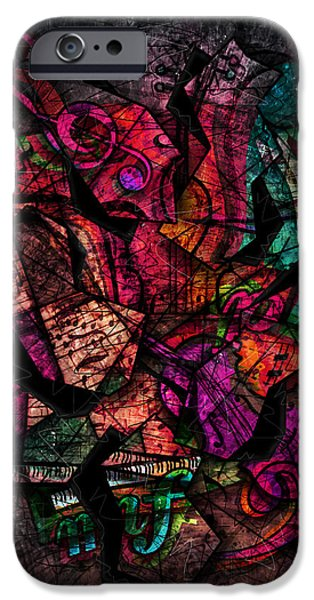 Piano iPhone Cases - Cacophony In Z Minor iPhone Case by Gary Bodnar