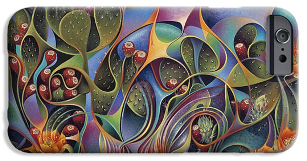 Tuna iPhone Cases - Cactus Dinamicus iPhone Case by Ricardo Chavez-Mendez