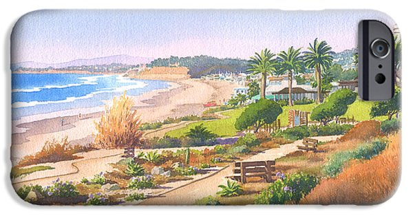 California Beach iPhone Cases - Cactus Garden at Powerhouse Beach iPhone Case by Mary Helmreich