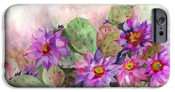 Tasteful Art iPhone Cases - Cactus Garden iPhone Case by Neela Pushparaj