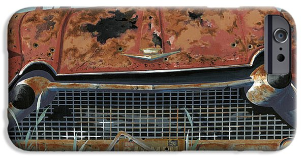 Junk Yard iPhone Cases - Cad Man iPhone Case by John Wyckoff