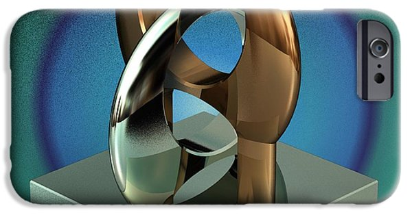 Stainless Steel iPhone Cases - Cad Sculpture No43 - Unity - 22092012 iPhone Case by Michael C Geraghty