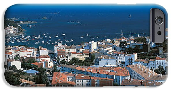 Tile Roofs iPhone Cases - Cadaques Costa Brava Spain iPhone Case by Panoramic Images