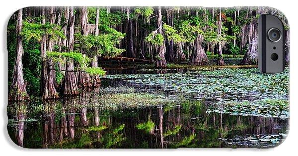Caddo Lake iPhone Cases - Caddo Dawn iPhone Case by Skip Hunt