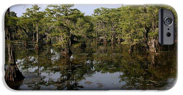 Karnak iPhone Cases - Caddo Lake Bayou 4 iPhone Case by Paul Anderson