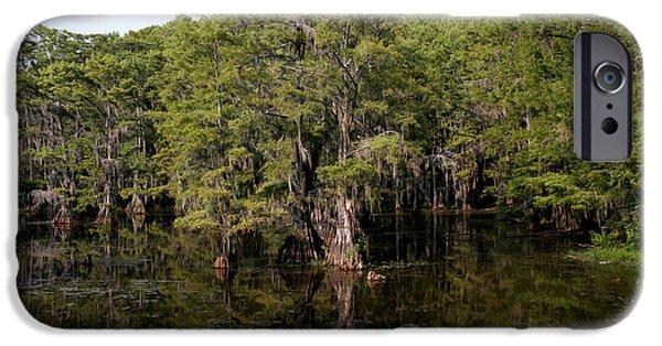 Karnak iPhone Cases - Caddo Lake Bayou 7 iPhone Case by Paul Anderson
