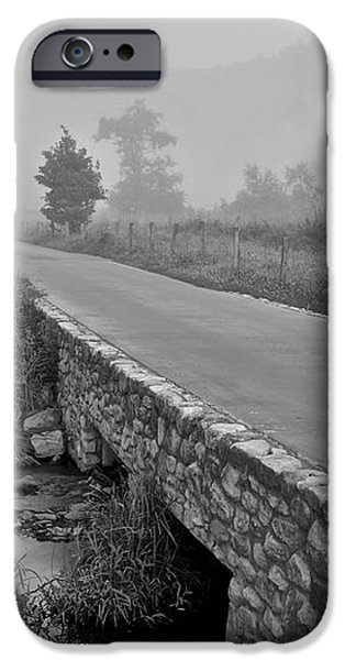 Cades Cove Black and White iPhone Case by Frozen in Time Fine Art Photography