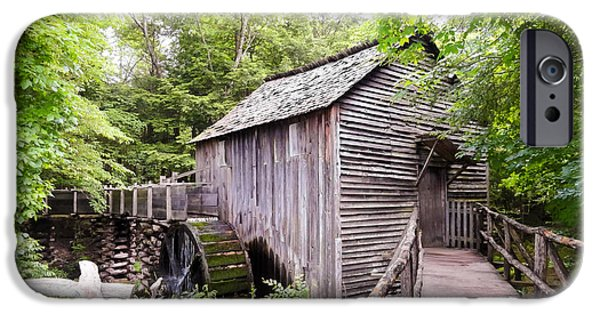 Tennessee Historic Site iPhone Cases - Cades Cove Cable Mill iPhone Case by Cynthia Woods