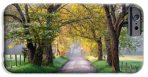 National Parks iPhone Cases - Cades Cove Great Smoky Mountains National Park - Sparks Lane iPhone Case by Dave Allen