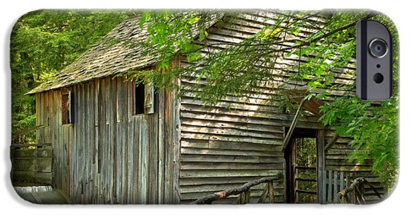 Grist Mill iPhone Cases - Cades Cove Grist Mill iPhone Case by Adam Jewell
