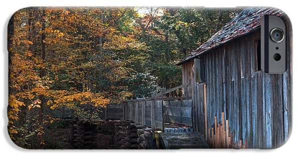 Smokey Mountains iPhone Cases - Cades Cove Mill iPhone Case by Steve Gadomski