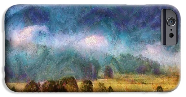 Smokey Mountains Paintings iPhone Cases - Cades Cove Tennessee  iPhone Case by Elizabeth Coats