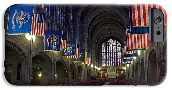 Stripes iPhone Cases - Cadet Chapel at West Point iPhone Case by Stuart Litoff