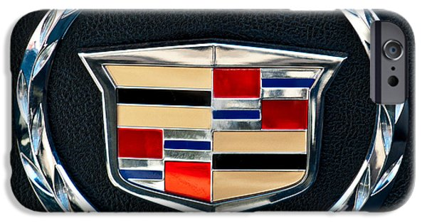 Vintage Cars iPhone Cases - Cadillac Emblem iPhone Case by Jill Reger