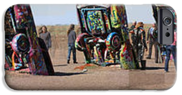 Buddhist iPhone Cases - Cadillac Ranch Horizon iPhone Case by Stephen Farley