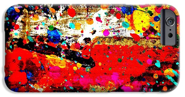 Fine Art Abstract iPhone Cases - Cadmium Abstract iPhone Case by John  Nolan
