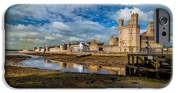 Sand Castles iPhone Cases - Caernarfon Castle iPhone Case by Adrian Evans
