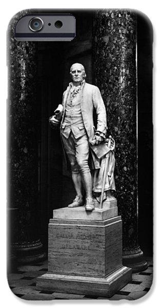 Patriots iPhone Cases - Caesar Rodney (1728-1784) iPhone Case by Granger