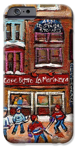 CAFE BISTRO LA MARINARA iPhone Case by CAROLE SPANDAU