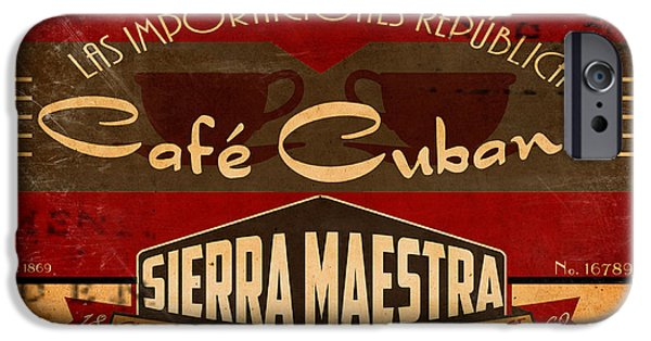 Cuban iPhone Cases - Cafe Cubano Crate Label iPhone Case by Cinema Photography