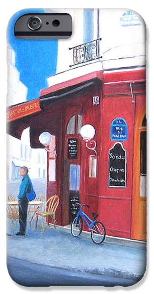 Brasserie iPhone Cases - Cafe des Musees Paris iPhone Case by Jan Matson