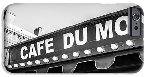Historical Pictures iPhone Cases - Cafe Du Monde Panoramic Picture iPhone Case by Paul Velgos